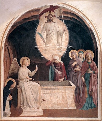 Women at the empty tomb, by Fra Angelico, 1437–1446